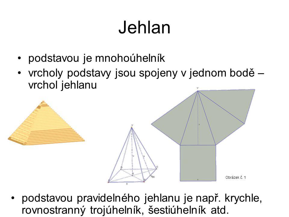 Jehlan podstavou je mnohoúhelník