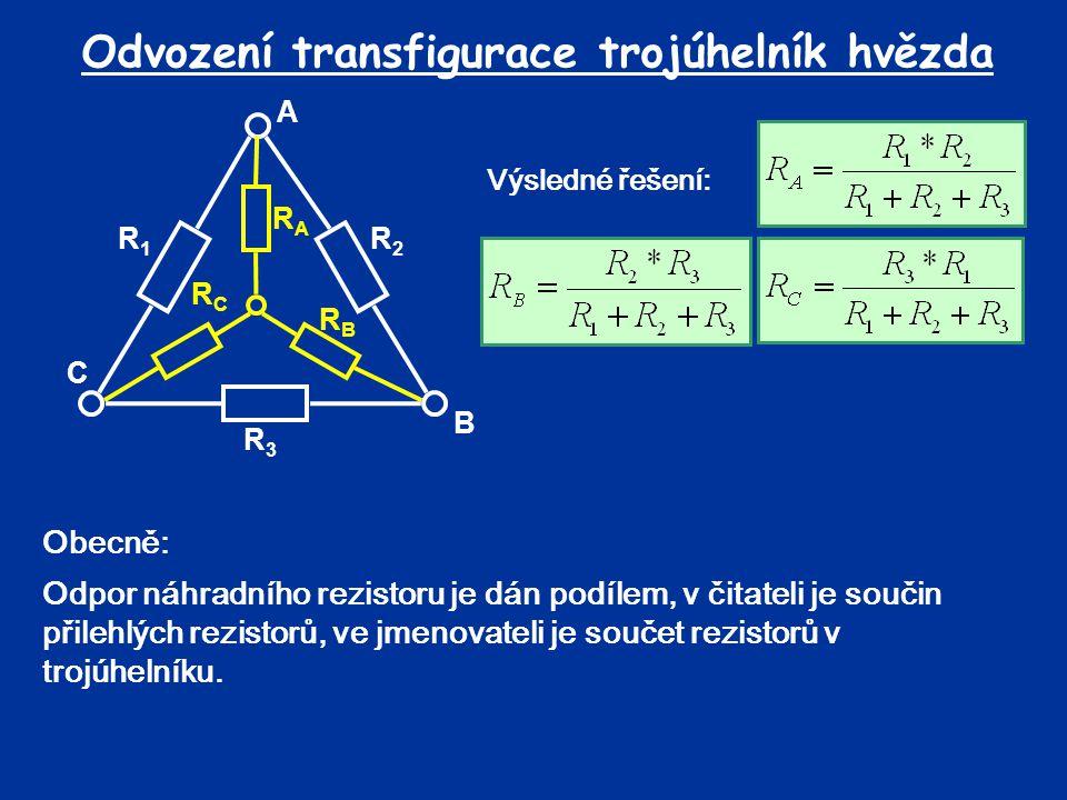 Odvození transfigurace trojúhelník hvězda