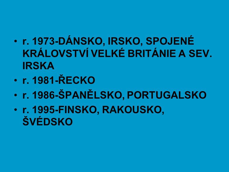 r. 1973-DÁNSKO, IRSKO, SPOJENÉ KRÁLOVSTVÍ VELKÉ BRITÁNIE A SEV. IRSKA