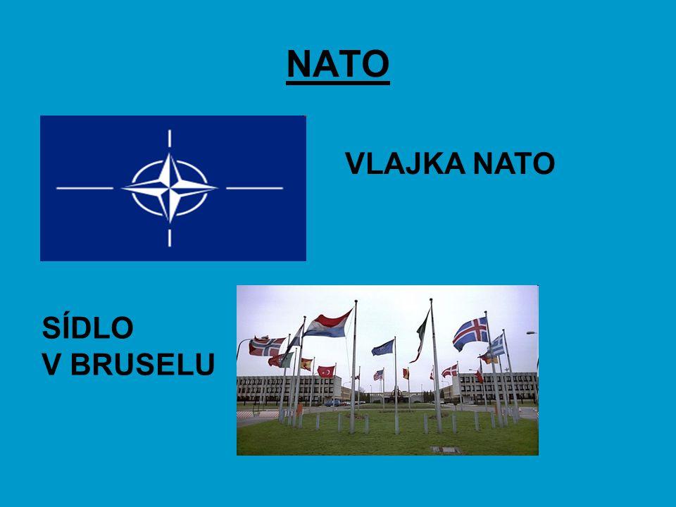 NATO VLAJKA NATO SÍDLO V BRUSELU