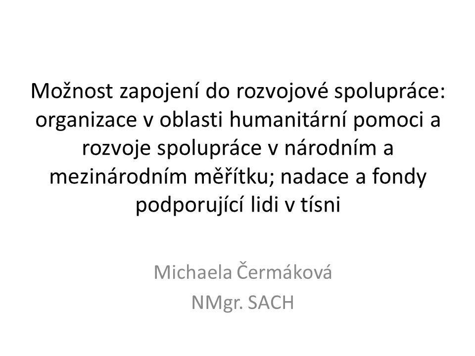 Michaela Čermáková NMgr. SACH
