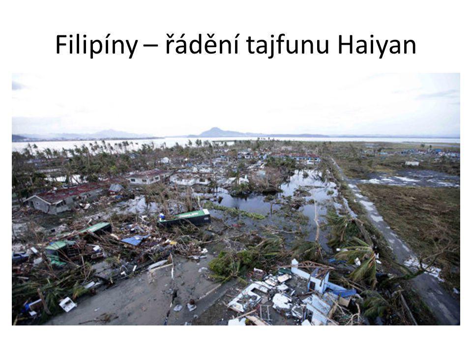 Filipíny – řádění tajfunu Haiyan