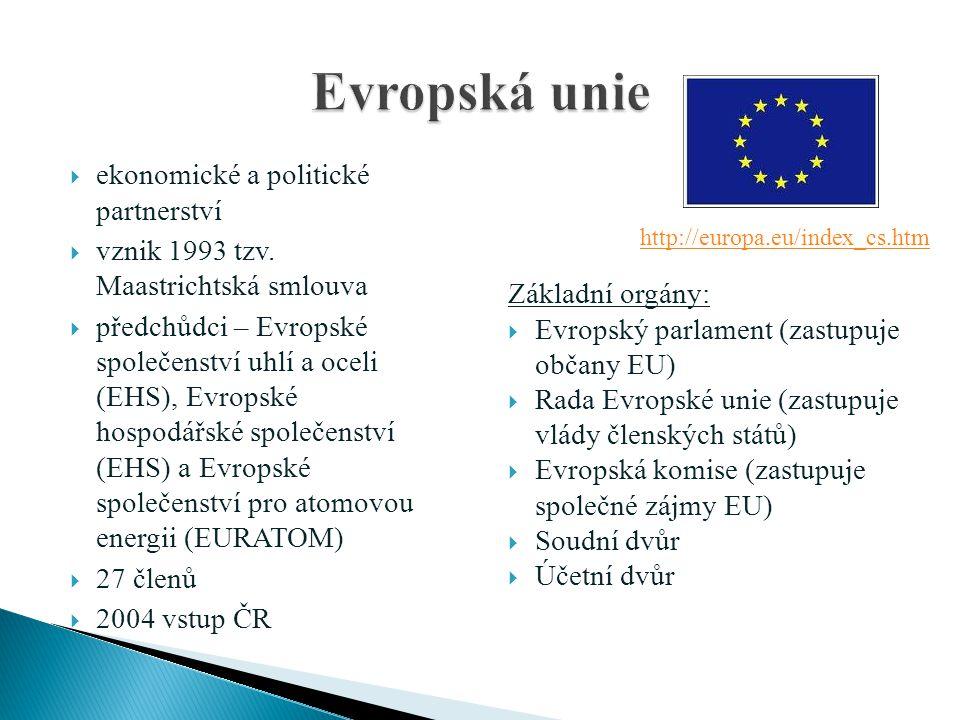 Evropská unie ekonomické a politické partnerství