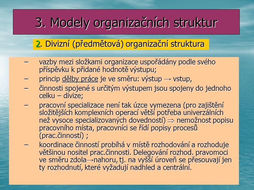 3. Modely organizačních struktur