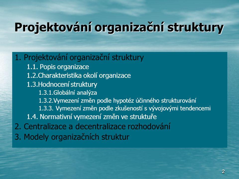 Projektování organizační struktury