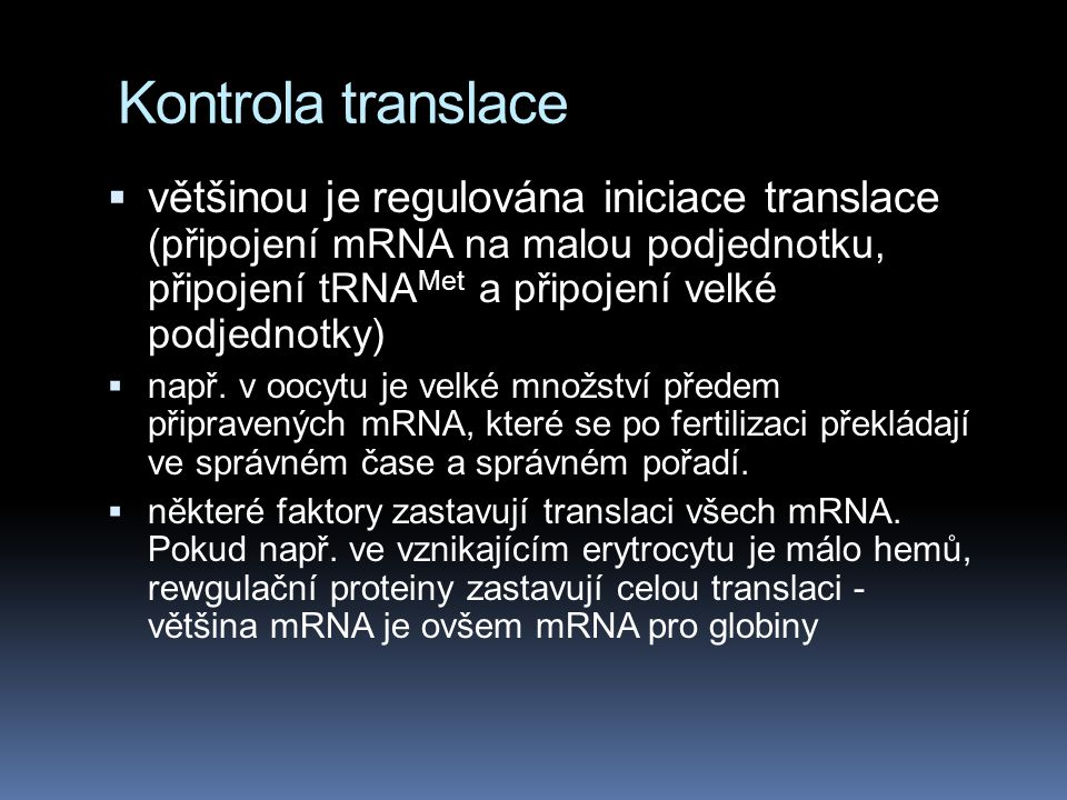 Kontrola translace