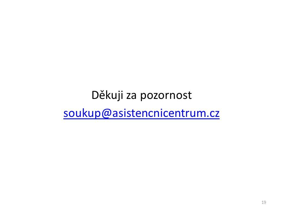 Děkuji za pozornost soukup@asistencnicentrum.cz