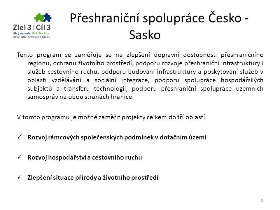 Přeshraniční spolupráce Česko - Sasko