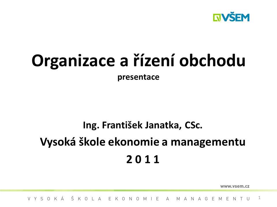 Organizace a řízení obchodu presentace