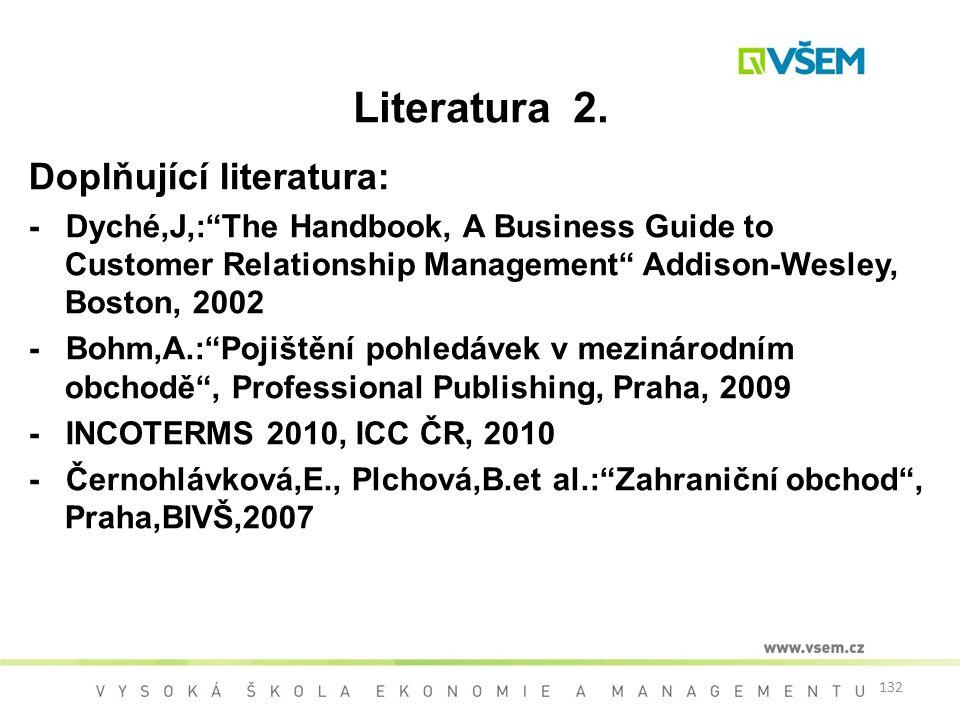 Literatura 2. Doplňující literatura: