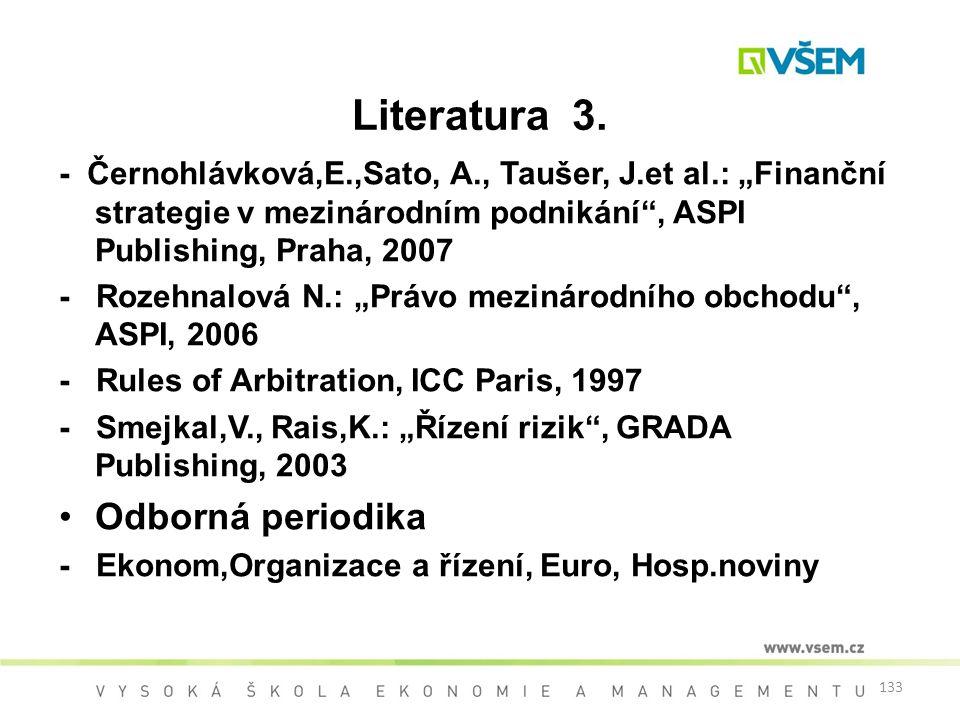 Literatura 3. Odborná periodika