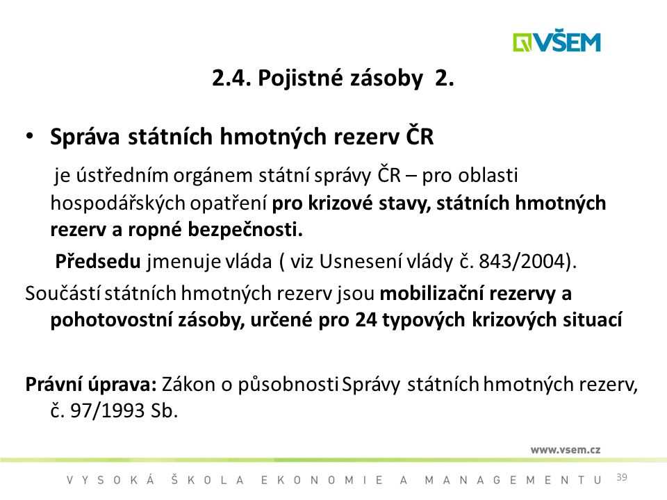 Správa státních hmotných rezerv ČR