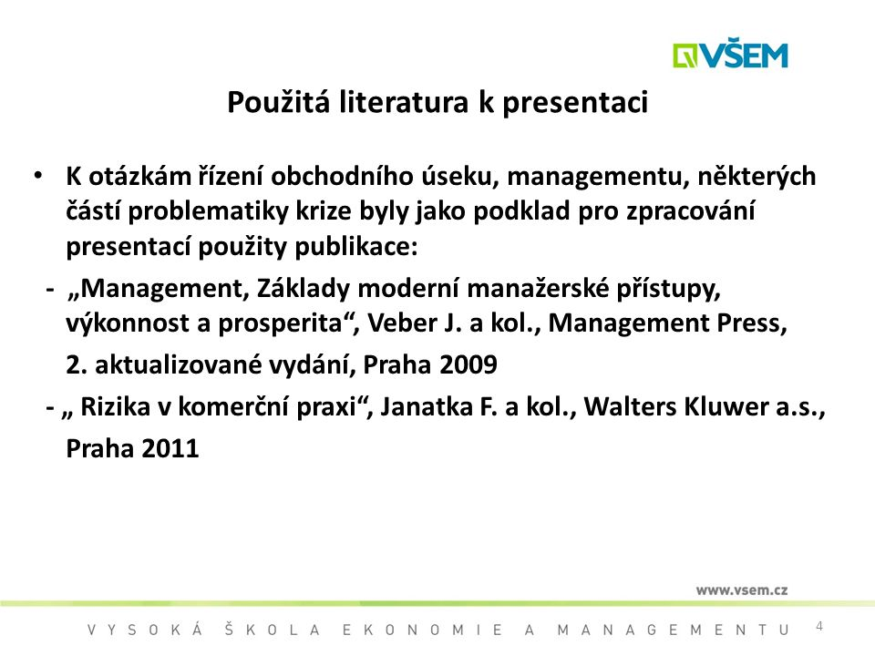 Použitá literatura k presentaci