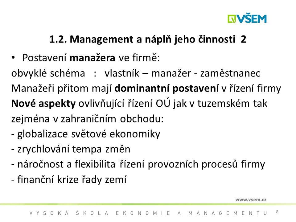 1.2. Management a náplň jeho činnosti 2