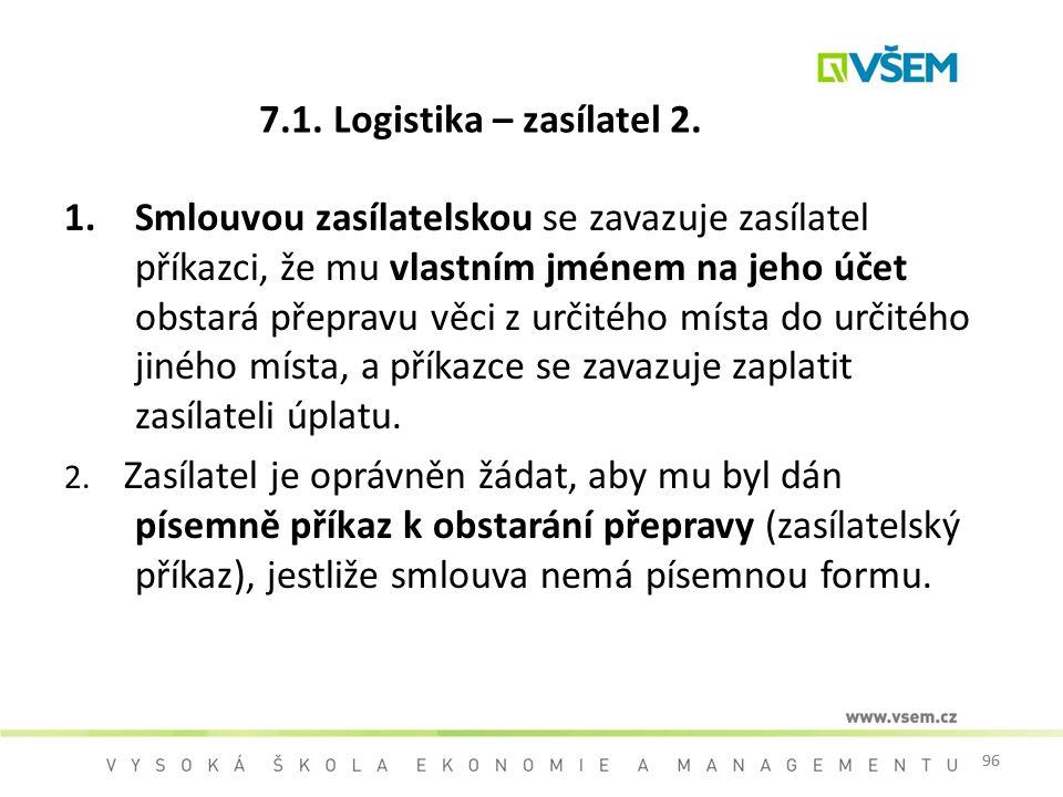 7.1. Logistika – zasílatel 2.
