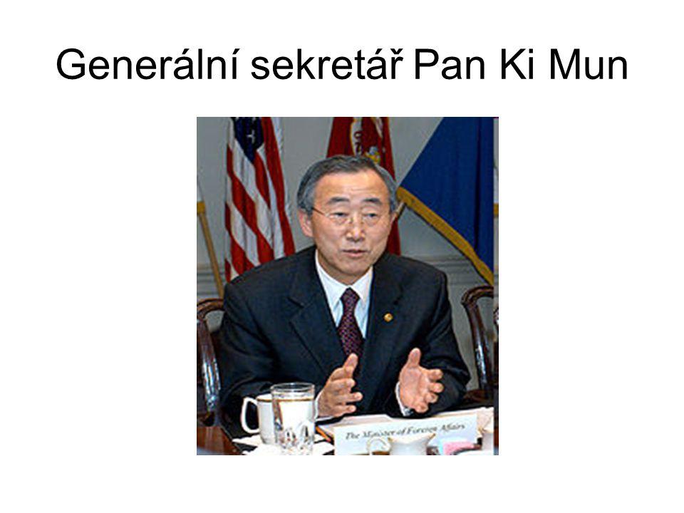 Generální sekretář Pan Ki Mun
