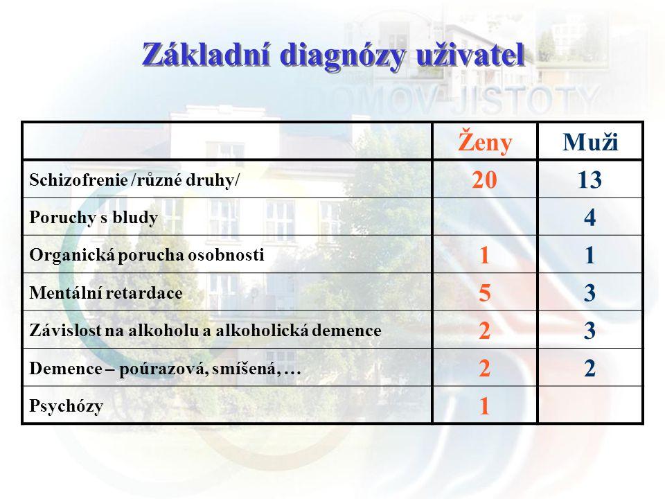 Základní diagnózy uživatel