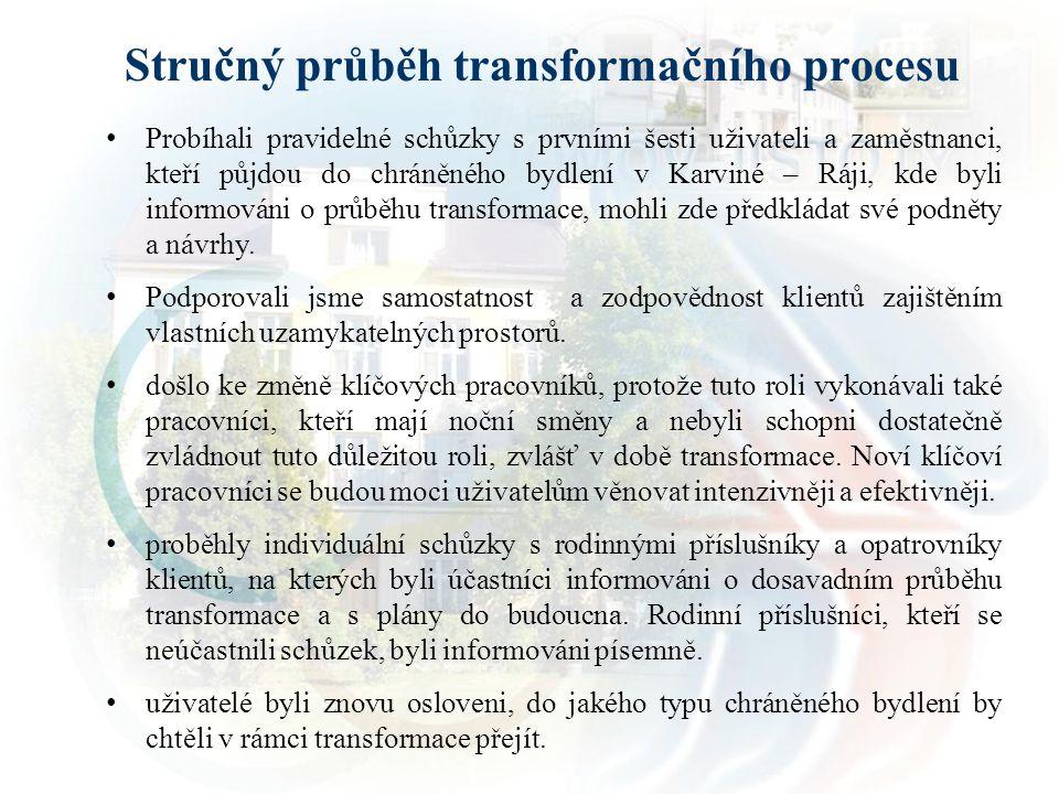 Stručný průběh transformačního procesu