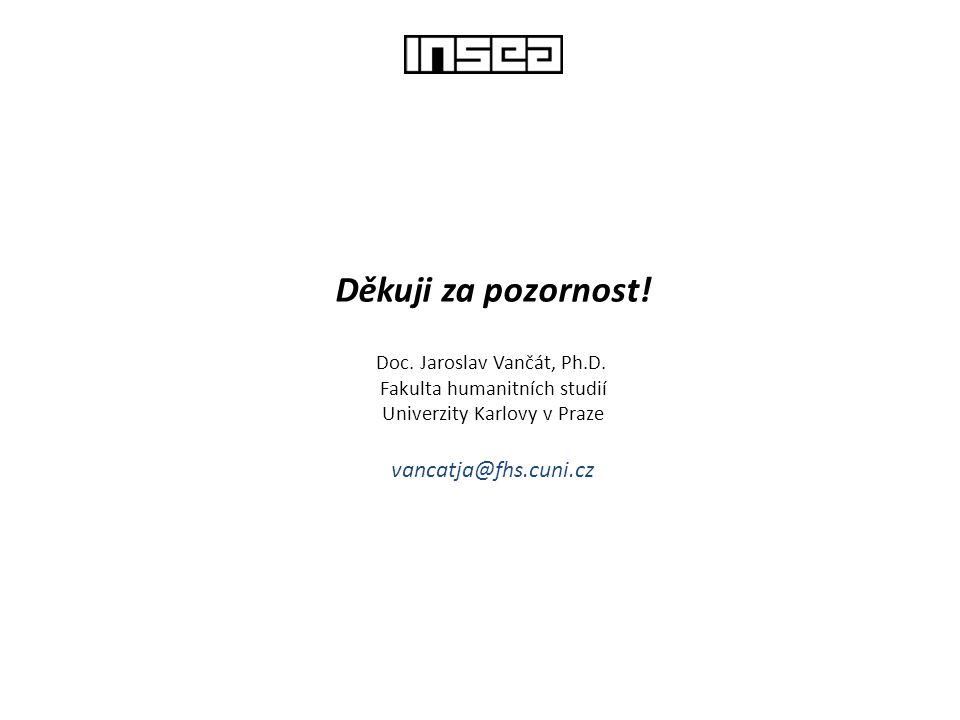 Děkuji za pozornost! vancatja@fhs.cuni.cz Doc. Jaroslav Vančát, Ph.D.