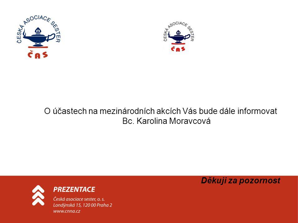 O účastech na mezinárodních akcích Vás bude dále informovat Bc