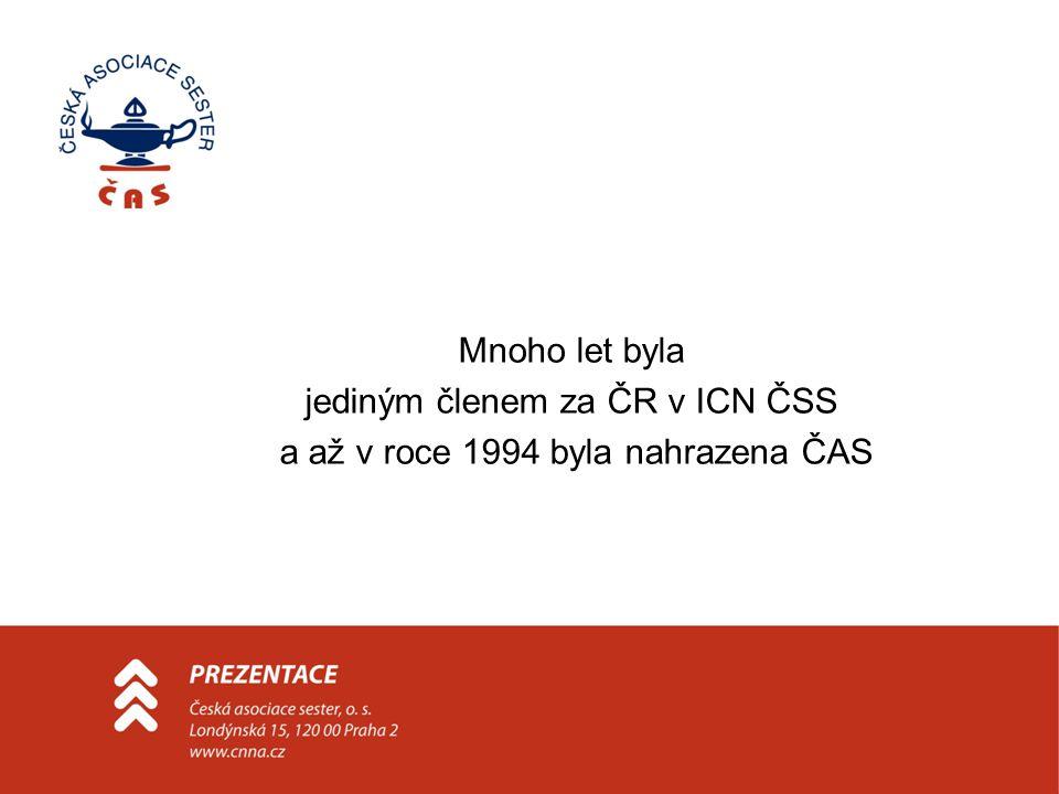 jediným členem za ČR v ICN ČSS a až v roce 1994 byla nahrazena ČAS