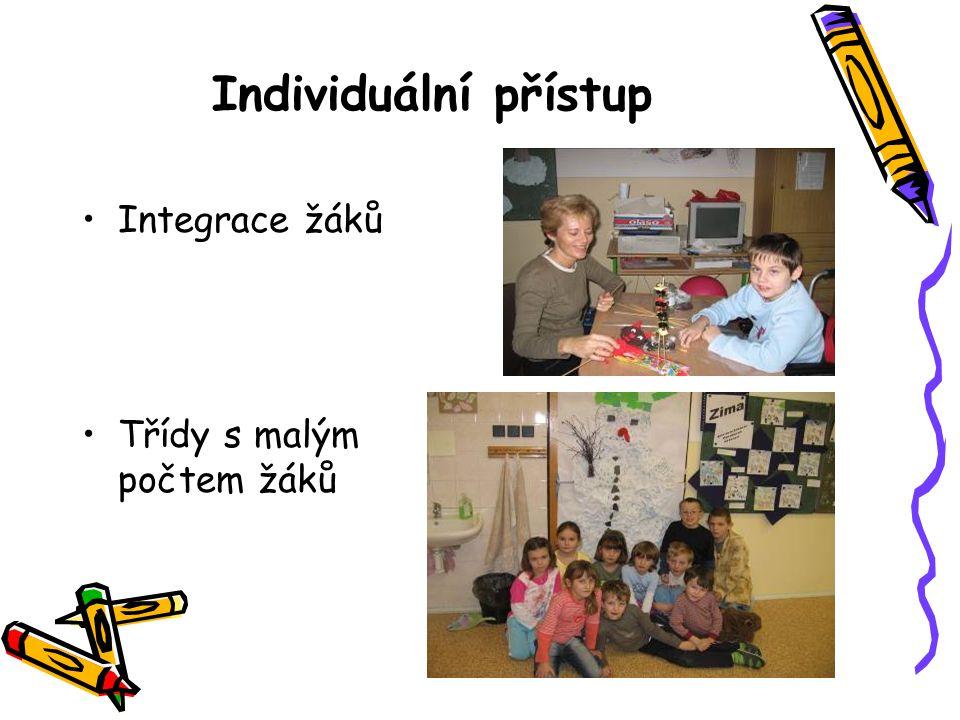 Individuální přístup Integrace žáků Třídy s malým počtem žáků