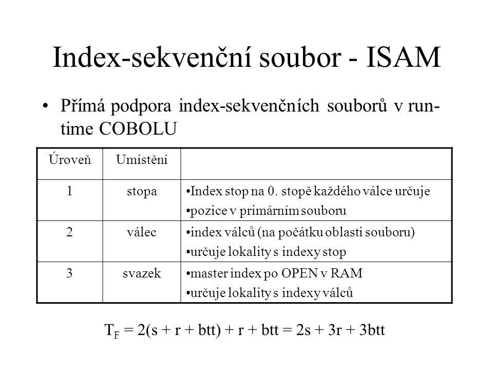 Index-sekvenční soubor - ISAM