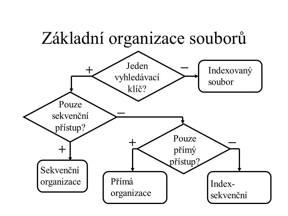 Základní organizace souborů