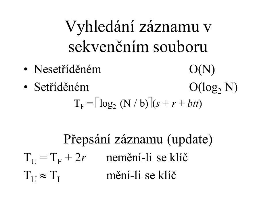 Vyhledání záznamu v sekvenčním souboru