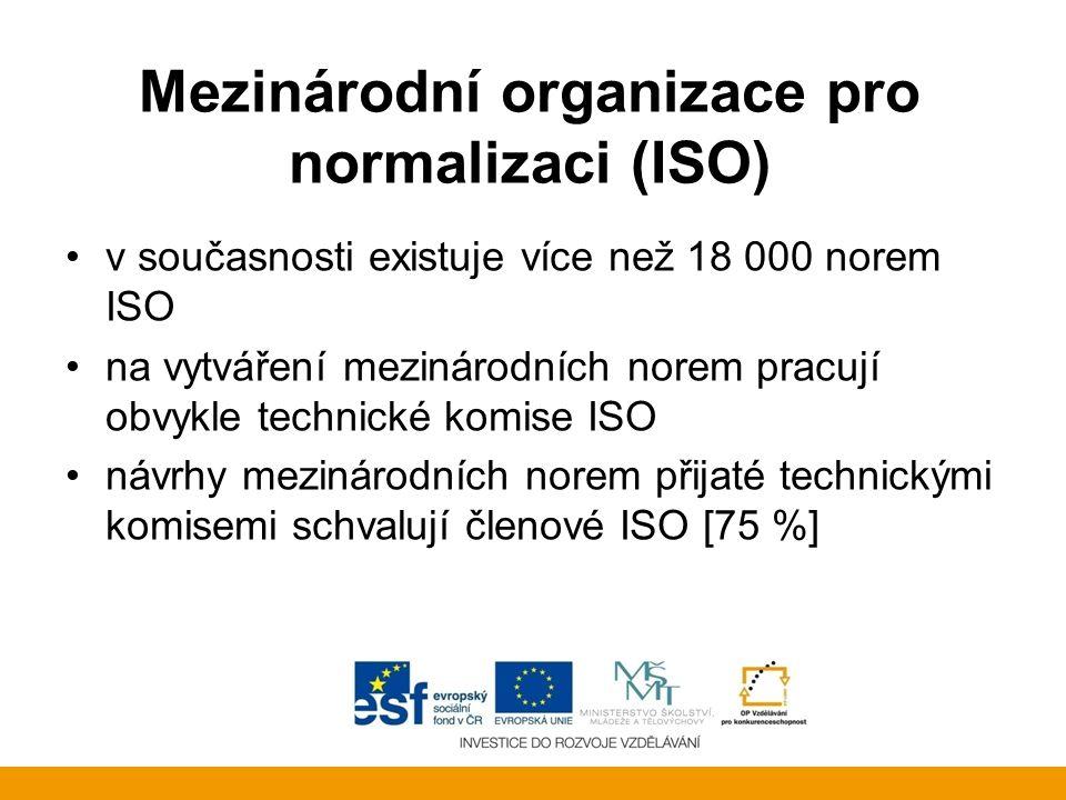 Mezinárodní organizace pro normalizaci (ISO)