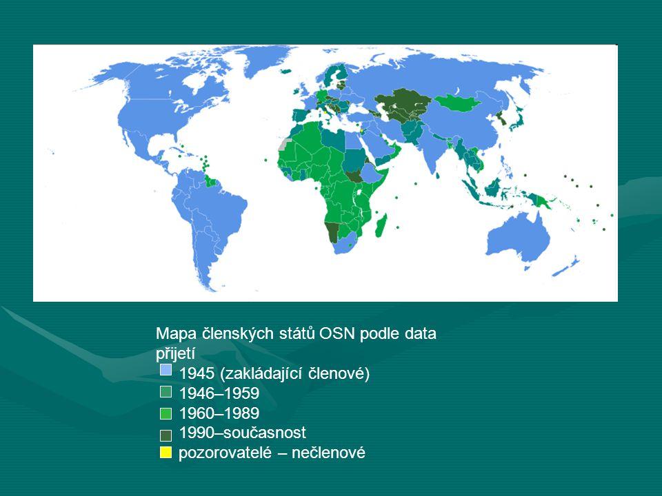 Mapa členských států OSN podle data přijetí
