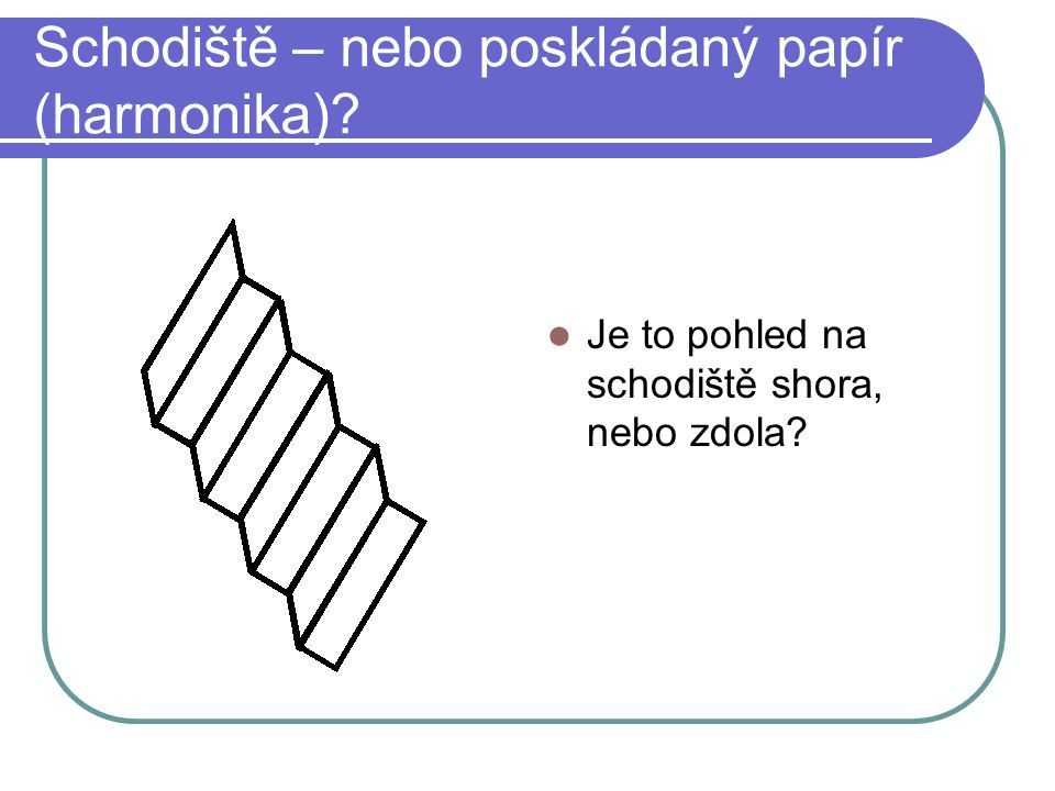 Schodiště – nebo poskládaný papír (harmonika)