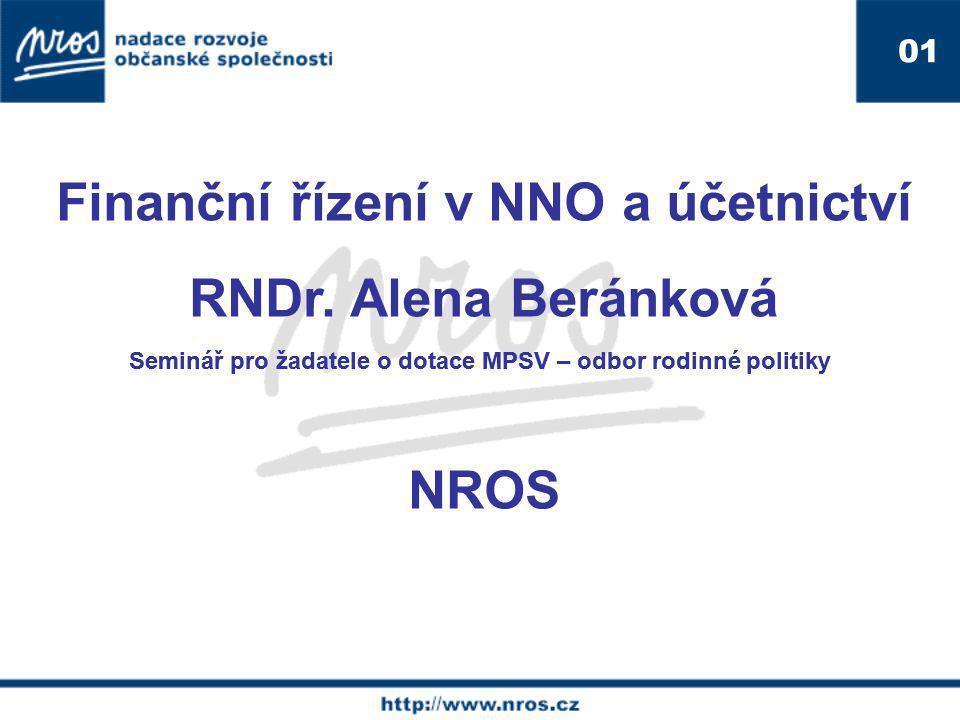 Finanční řízení v NNO a účetnictví