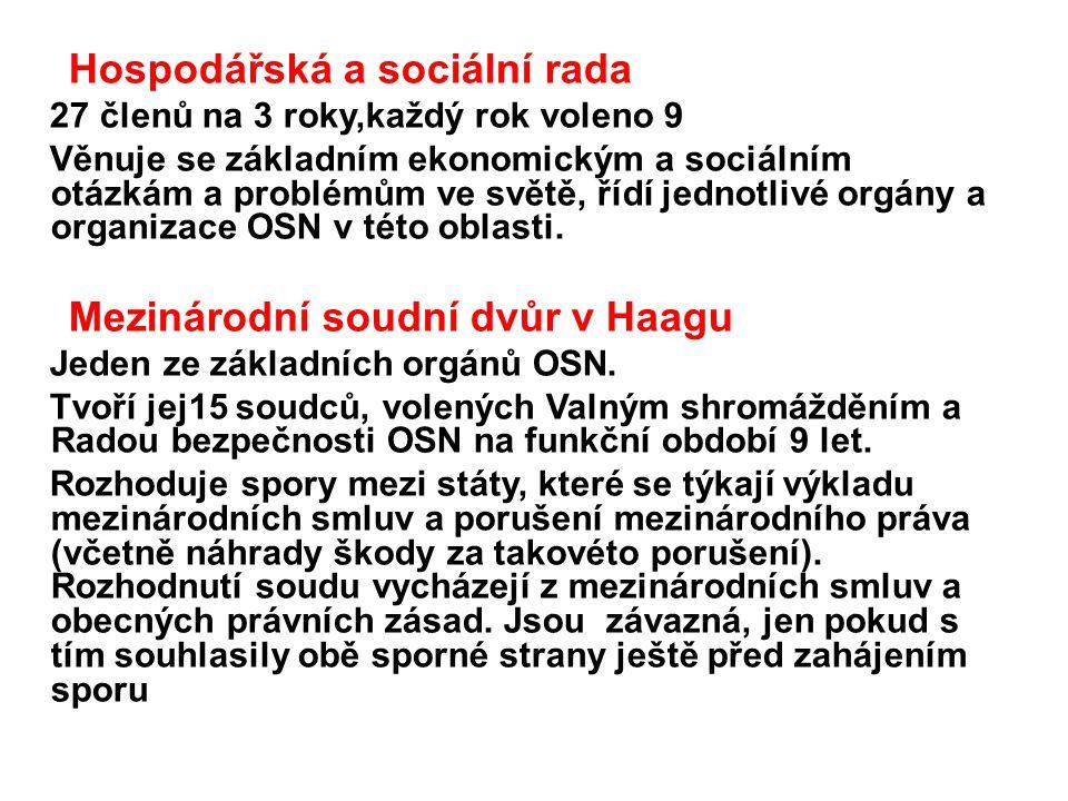 Hospodářská a sociální rada
