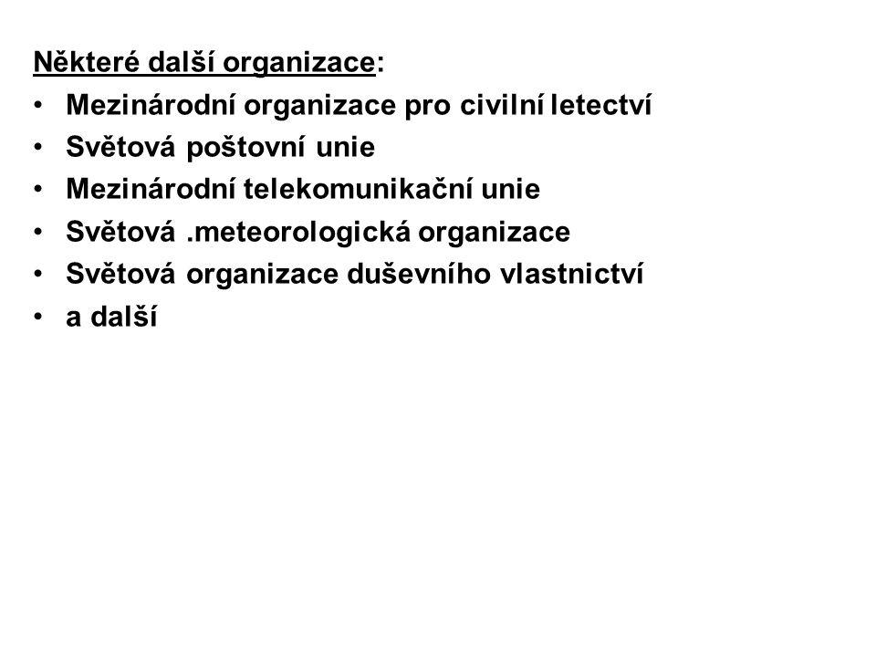 Některé další organizace: