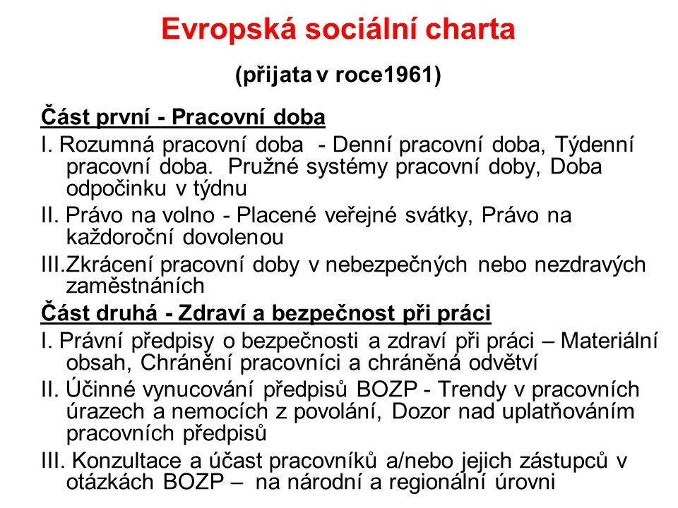 Evropská sociální charta (přijata v roce1961)