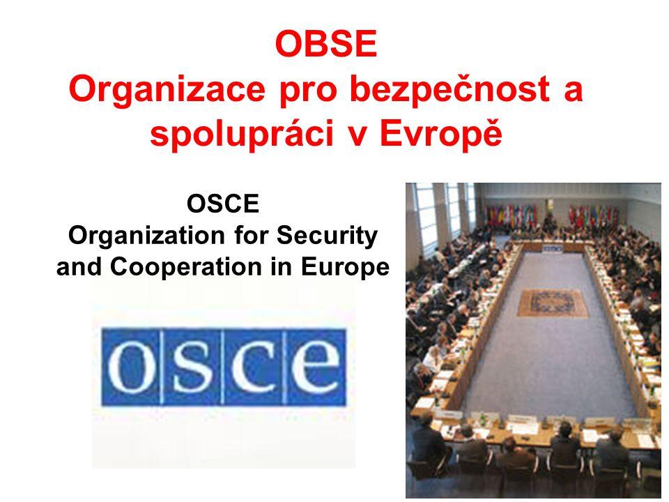 OBSE Organizace pro bezpečnost a spolupráci v Evropě