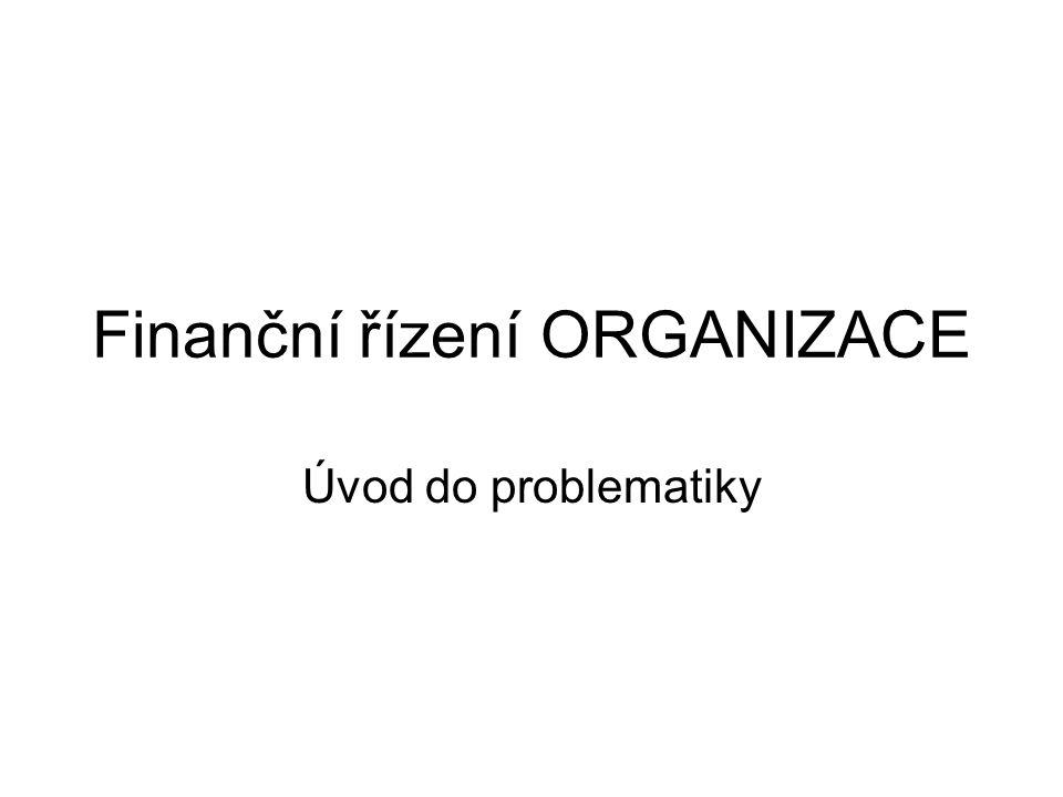 Finanční řízení ORGANIZACE