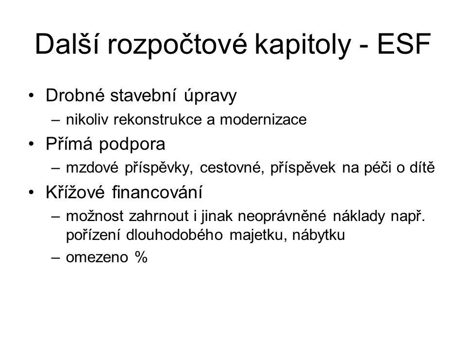 Další rozpočtové kapitoly - ESF