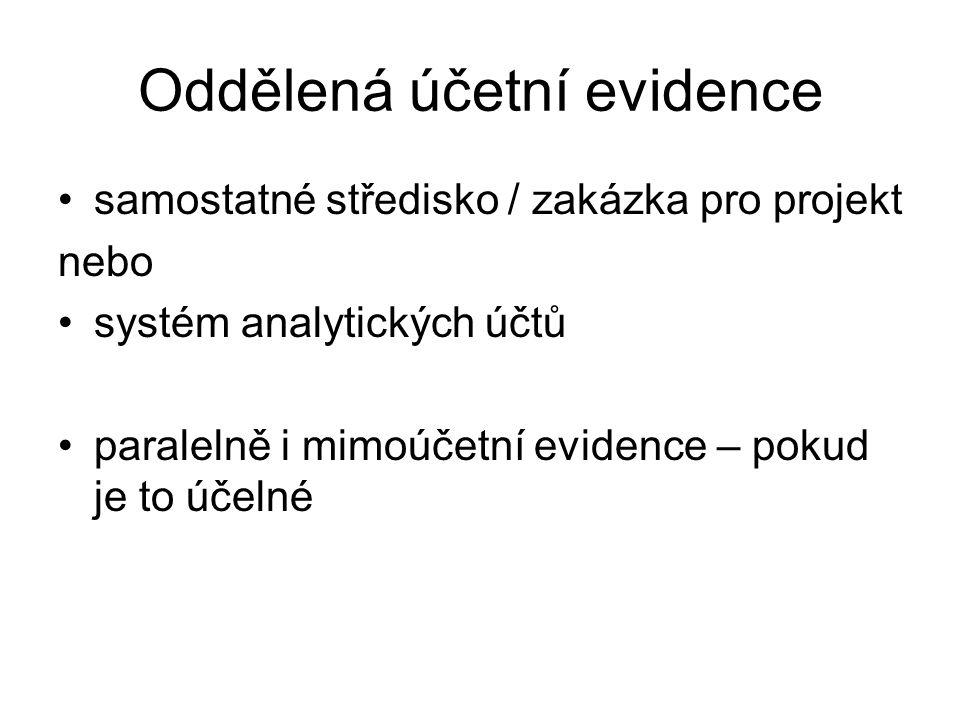 Oddělená účetní evidence