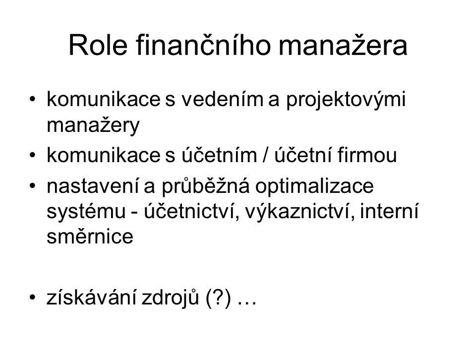 Role finančního manažera