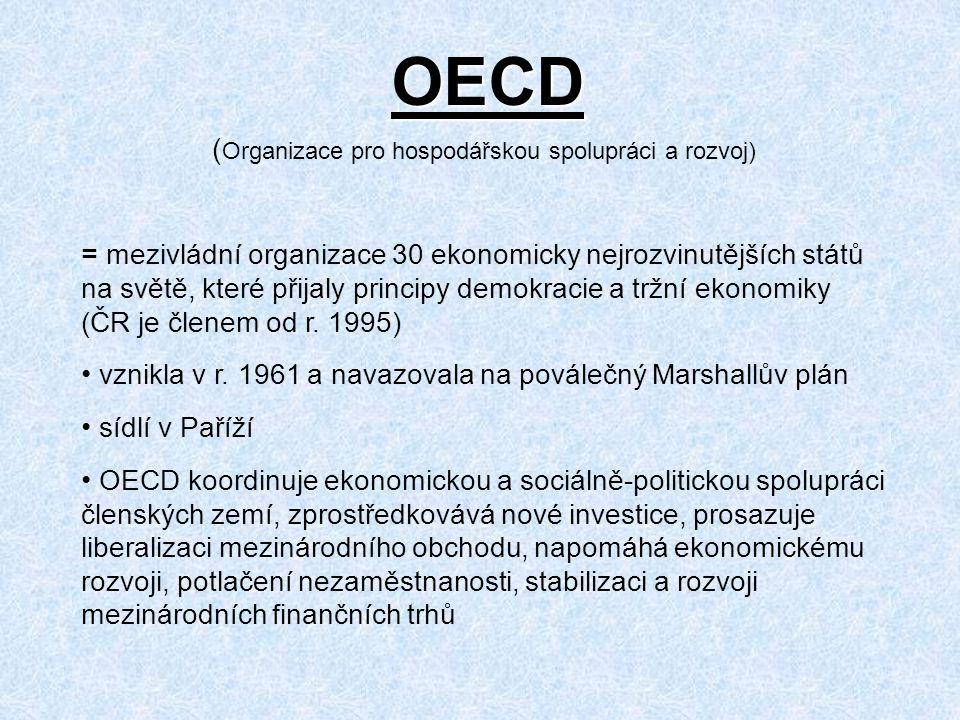 OECD (Organizace pro hospodářskou spolupráci a rozvoj)