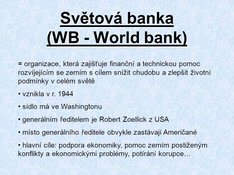 Světová banka (WB - World bank)