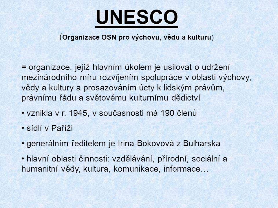 UNESCO (Organizace OSN pro výchovu, vědu a kulturu)