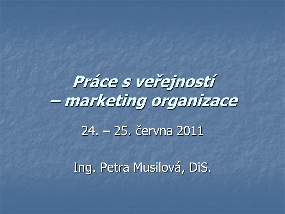 Práce s veřejností – marketing organizace