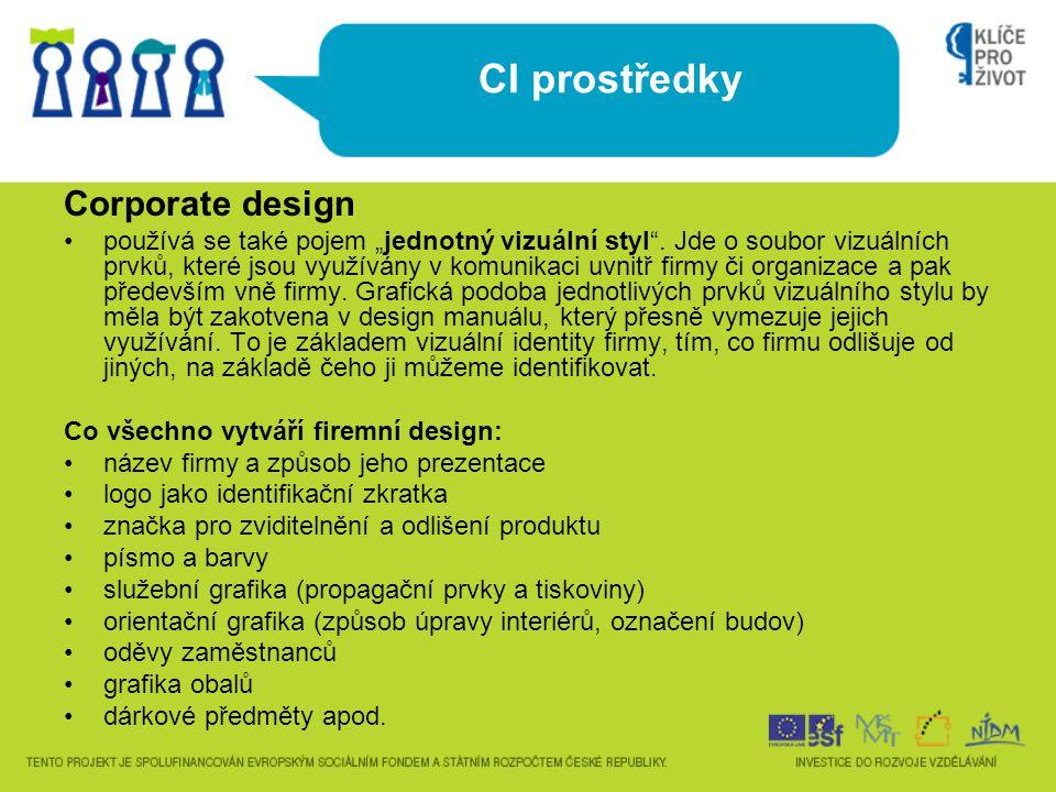 CI prostředky Corporate design