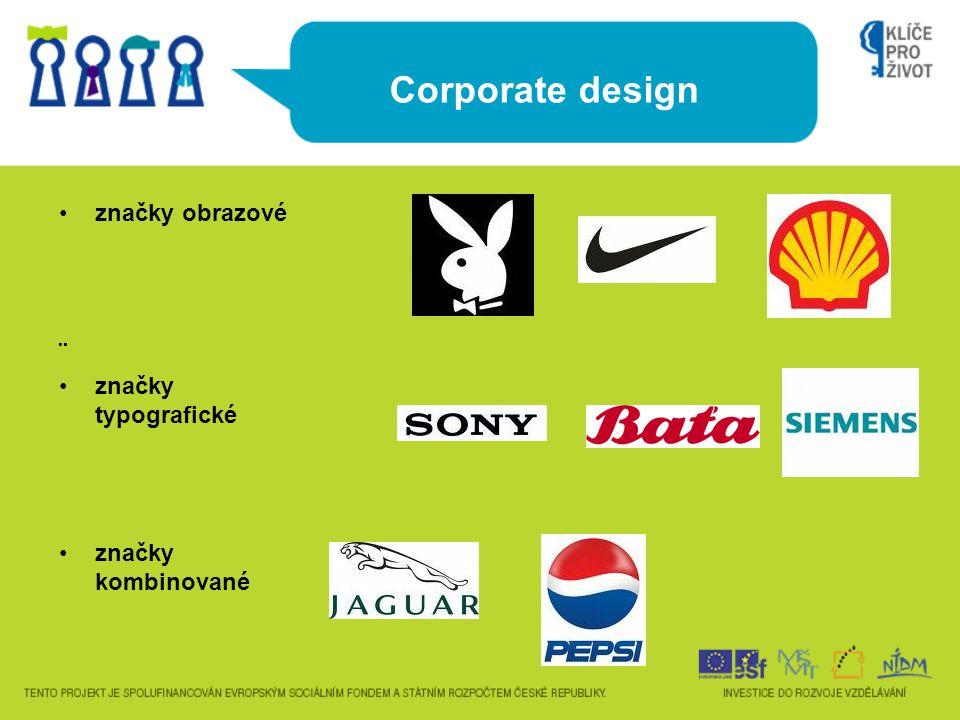 Corporate design značky obrazové ¨ značky typografické