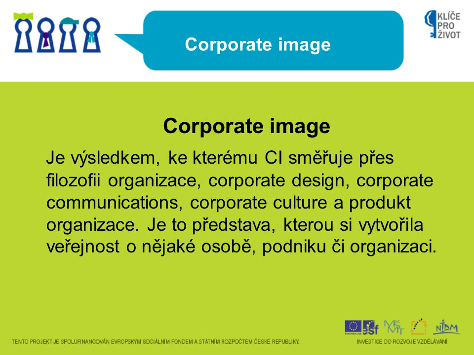 Corporate image Corporate image.