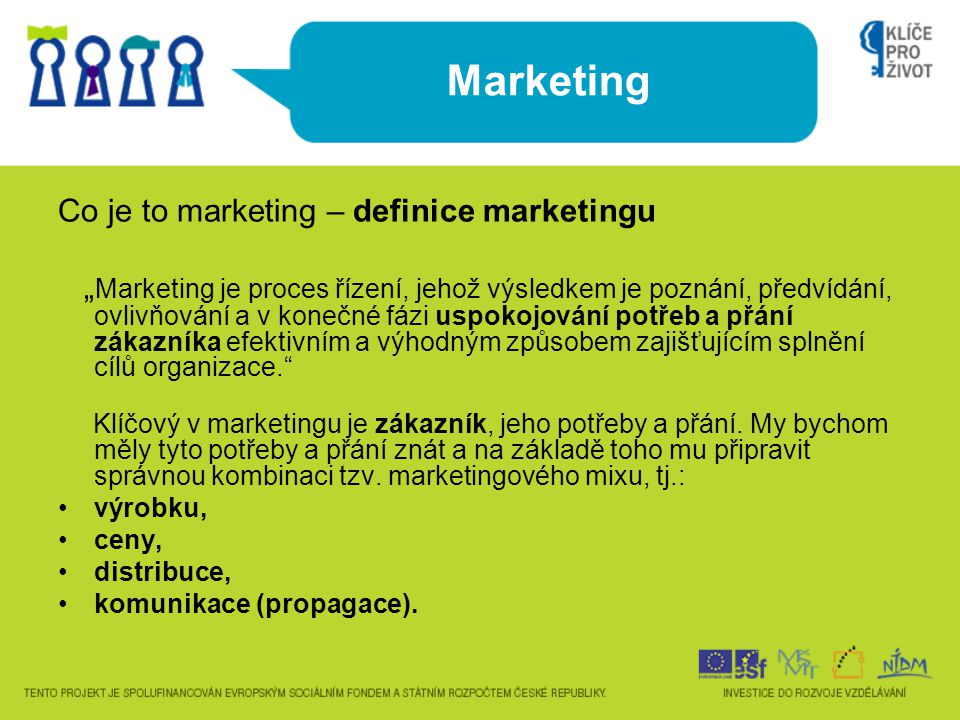 Marketing Co je to marketing – definice marketingu
