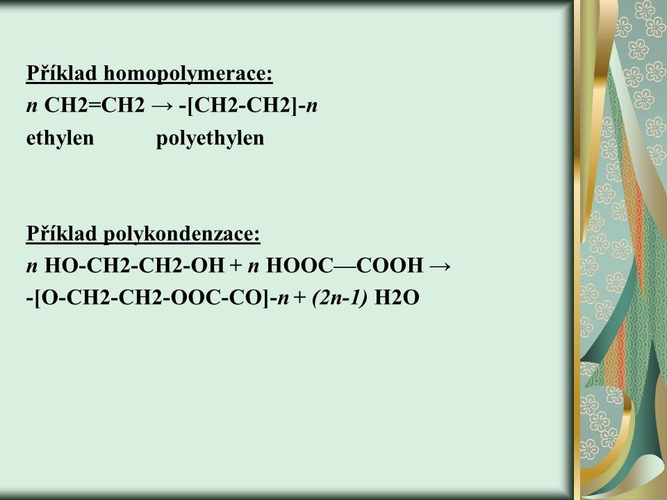 Příklad homopolymerace: